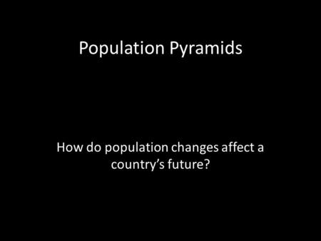 How do population changes affect a country's future?