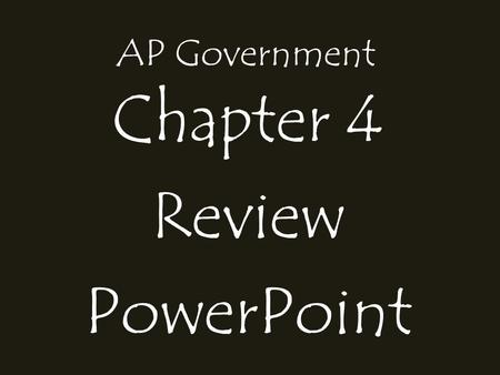 AP Government Chapter 4 Review PowerPoint. Key points of Engel v. Vitale;