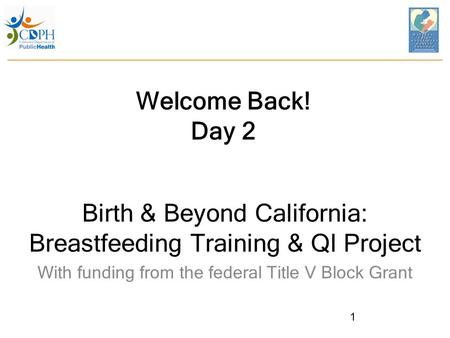 Birth & Beyond California: Breastfeeding Training & QI Project