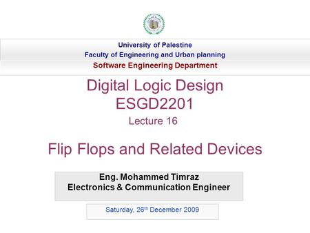 Digital Logic Design ESGD2201