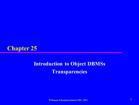 Part 3 Introduction To Object Dbmss Ppt Video Online