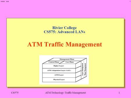 Rivier College CS575: Advanced LANs ATM Traffic Management
