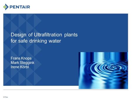 Contents Introduction Ultrafiltration Designing an UF system
