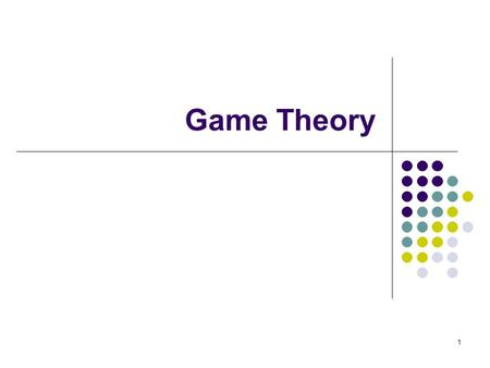 "Game Theory 1. Game Theory and Mechanism Design Game theory to analyze strategic behavior: Given a strategic environment (a ""game""), and an assumption."