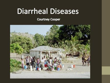 Diarrhea( >3 loose/liquid stools per day) depletes the body of needed fluids and salts leading to dehydration.
