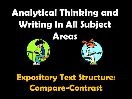 Analytical Thinking and Writing In All Subject Areas