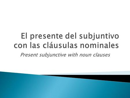 Present subjunctive with noun clauses.  This is fancy grammar talk for a sentence with at least 2 clauses; the verb in the first (or main) clause determines.