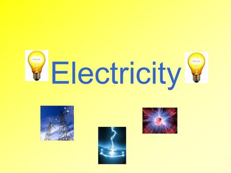"Electricity. Let's Review… Atoms have 3 subatomic particles Protons = positive Electrons = negative Neutrons = neutral Neutral Atom ""Normal"" state # Protons."