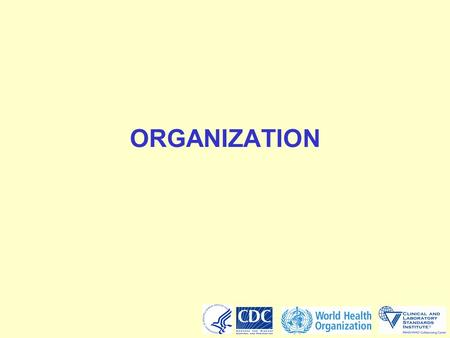 ORGANIZATION. 2 Problem scenario  Develop an organizational chart for your laboratory showing lines of authority from the head of the organization to.