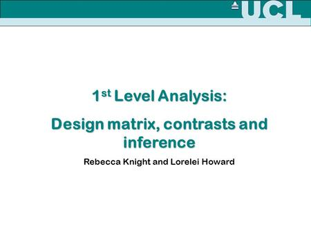 Design matrix, contrasts and inference
