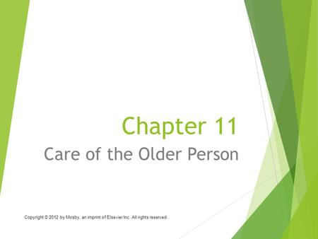 Care of the Older Person