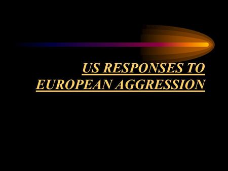US RESPONSES TO EUROPEAN AGGRESSION. QUIZ TIME : What is A foreign policy dedicated to withdrawing from international affairs called ?