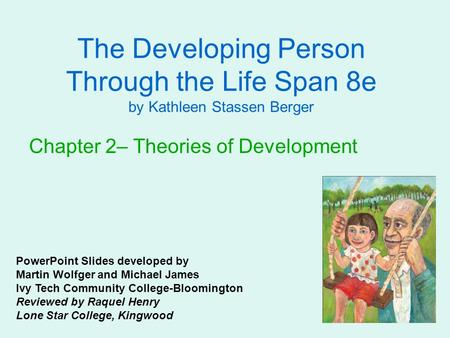 The Developing Person Through the Life Span 8e by Kathleen Stassen Berger Chapter 2– Theories of Development PowerPoint Slides developed by Martin Wolfger.