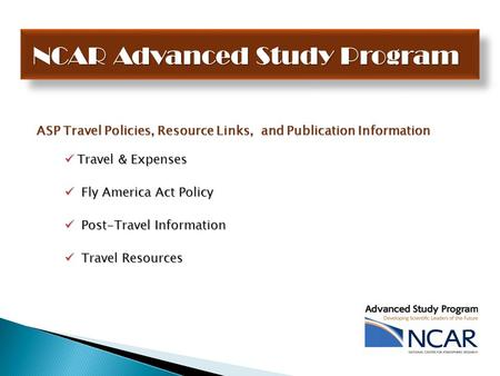 ASP Travel Policies, Resource Links, and Publication Information Travel & Expenses Travel & Expenses Fly America Act Policy Fly America Act Policy Post-Travel.