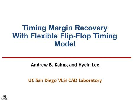 Timing Margin Recovery With Flexible Flip-Flop Timing Model