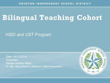 Bilingual Teaching Cohort