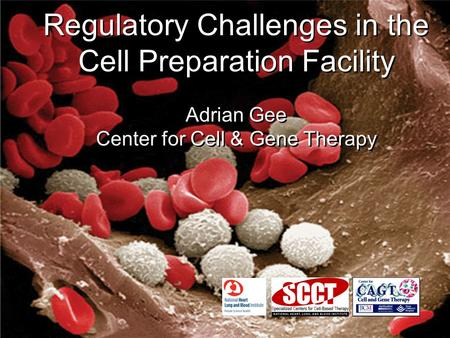Regulatory Challenges in the Cell Preparation Facility Adrian Gee Center for Cell & Gene Therapy Regulatory Challenges in the Cell Preparation Facility.