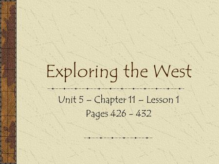 Unit 5 – Chapter 11 – Lesson 1 Pages
