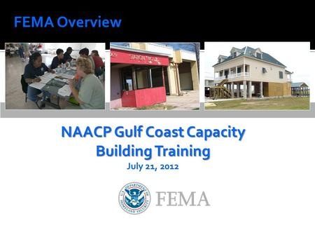 FEMA Overview. FEMA overview Federal disaster contracting Emergency Preparedness 2.