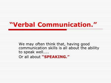 speech and oral communication ppt