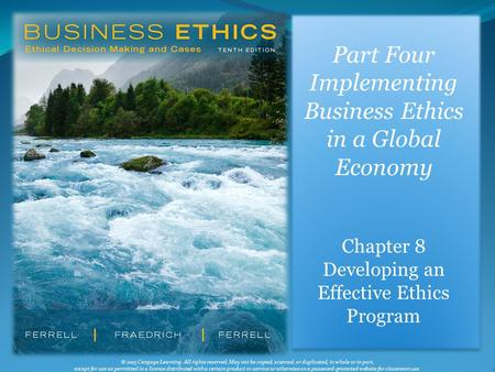 Implementing Business Ethics in a Global Economy