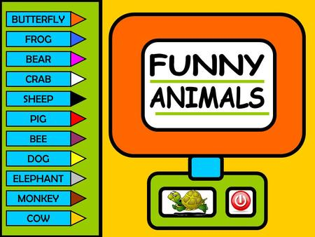 FUNNY ANIMALS BUTTERFLY FROG BEAR CRAB SHEEP PIG DOG ELEPHANT MONKEY