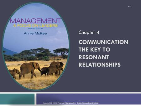 Communication The Key to Resonant Relationships