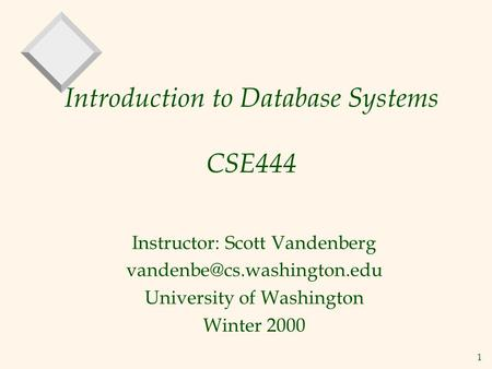 CS186: Introduction to Database Systems Joe Hellerstein and