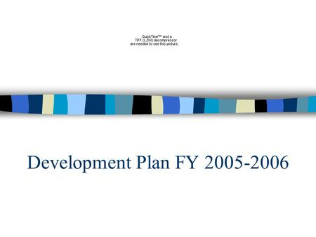 Development Plan FY 2005-2006. Plan Overview - 7 Components Individual Donor Development Corporate Giving Events Foundation Grants Government/Research.
