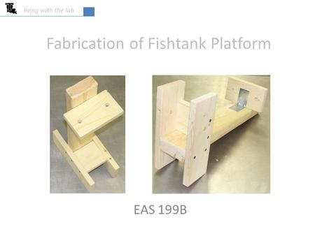 Fabrication of Fishtank Platform EAS 199B living with the lab.