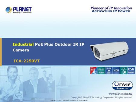 Industrial PoE Plus Outdoor IR IP Camera