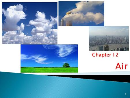 Chapter 12 1. 2  Air Pollution – Harmful substances built up in the air to an unhealthy level ◦ Pollutants can be from human activity – industry soot.