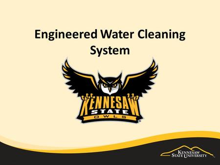 Engineered Water Cleaning System. Technology Changes Everything.