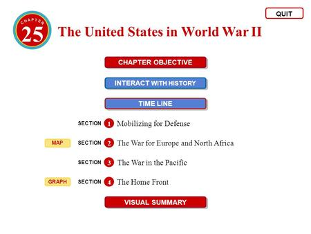25 The United States in World War II Mobilizing for Defense