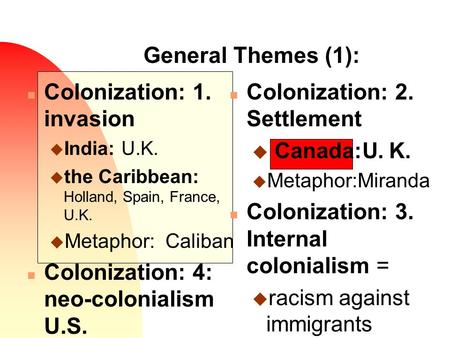 colonization and national identity i am The issue of the depth of national identity is more pressing in rakove's review, though, when he refers to phillips's skepticism of what rakove calls the 'the narrative that has dominated historical interpretations of the revolution for the past half century.