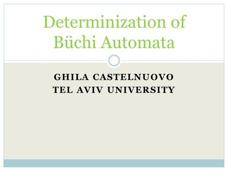 Determinization of Büchi Automata