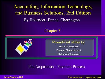 The Acquisition / Payment Process