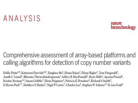 We processed six samples in triplicate using 11 different array platforms at one or two laboratories. we obtained measures of array signal variability.
