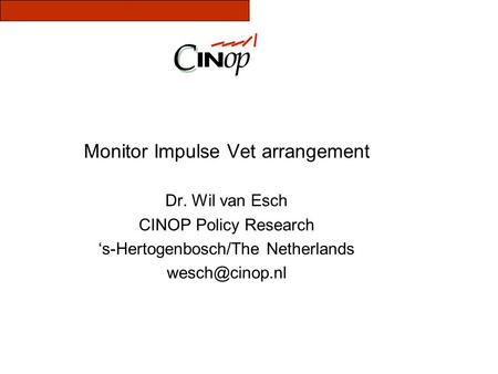 Monitor Impulse Vet arrangement