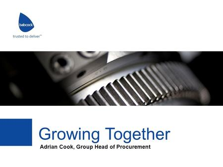Adrian Cook, Group Head of Procurement