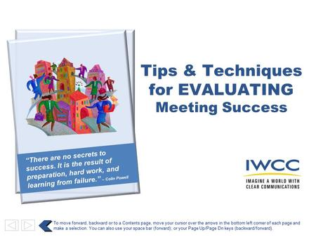 for EVALUATING Meeting Success