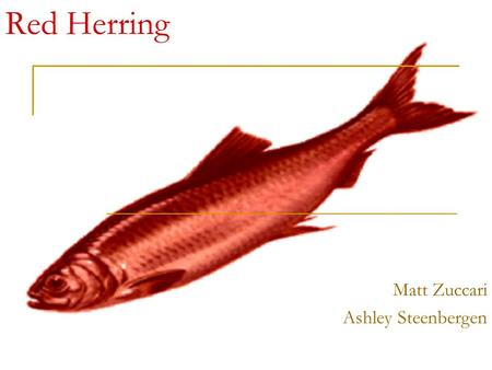 Red Herring Matt Zuccari Ashley Steenbergen. The man tries to divert the conversation to something that is completely irrelevant but more supportive of.