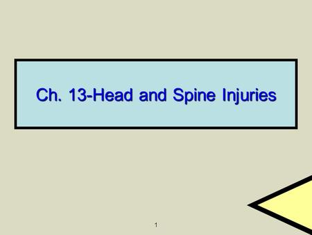 Ch. 13-Head and Spine Injuries