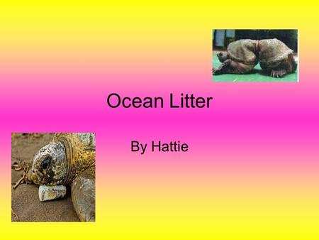 Ocean Litter By Hattie. plastic Thousands of tonnes of plastic debris End up in our ocean each year.