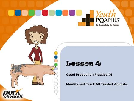 Lesson 4 Good Production Practice #4 Identify and Track All Treated Animals.