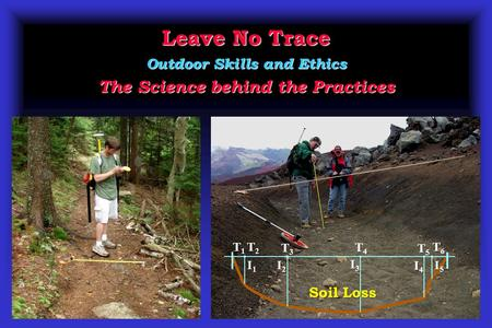 Leave No Trace Outdoor Skills and Ethics The Science behind the Practices T2T2T2T2 T3T3T3T3 T5T5T5T5 I2I2I2I2 I3I3I3I3 I4I4I4I4 I1I1I1I1 T4T4T4T4 I5I5I5I5.