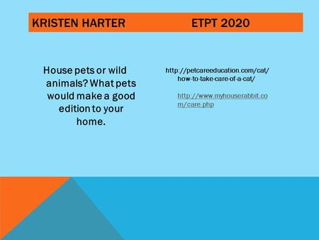KRISTEN HARTERETPT 2020 House pets or wild <strong>animals</strong>? What pets would make a good edition to your <strong>home</strong>. how-to-take-care-of-a-cat/