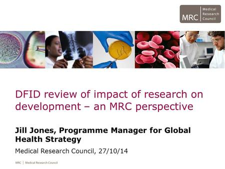 DFID review of impact of research on development – an MRC perspective