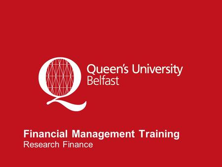 1 Financial Management Training Research Finance.