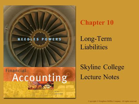 Long-Term Liabilities Skyline College Lecture Notes